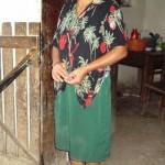 Josefina im Hauseingang