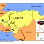 Karte des Anbaugebiets Marcala in Honduras